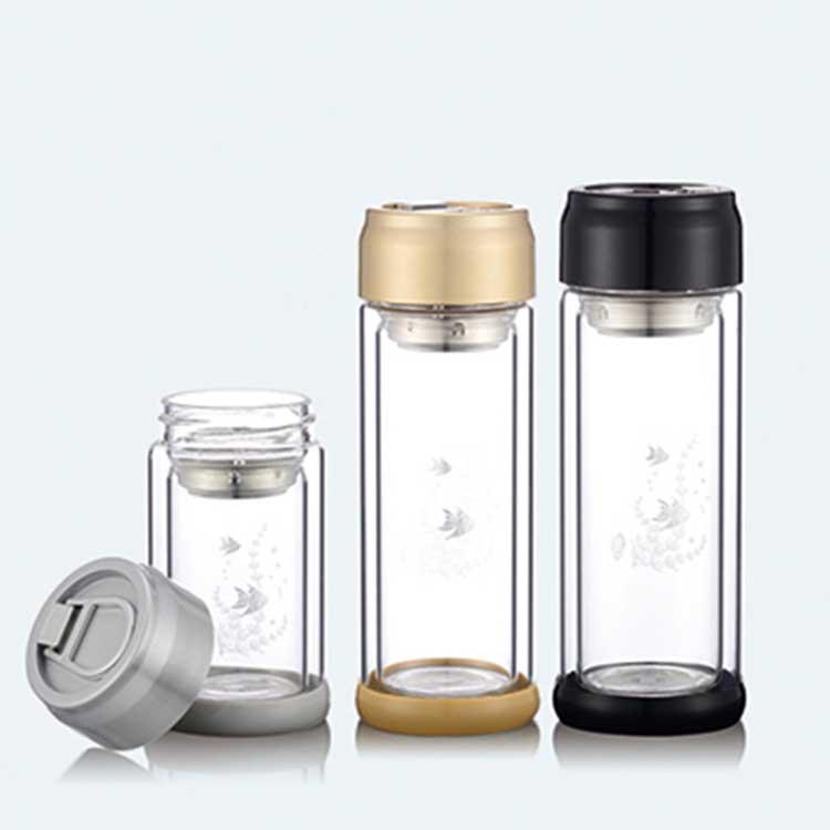 易拉罐盖子双层水晶玻璃杯 630-20-28-35